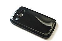 Глянцевый TPU чехол для Samsung Galaxy Core I8262 / I8260 чёрный