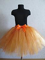 Юбка-пачка, юбка-американка, юбка-туту из фатина. Оранжевая.