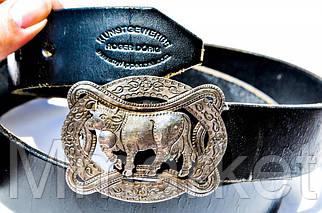 Кожаный ремень,Roger Dörig!!! Пряжка,серебро-925!