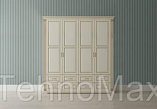 Шкаф 4Д «Франческа»2170*650*2350 каштан,махонь, орех, темный орех