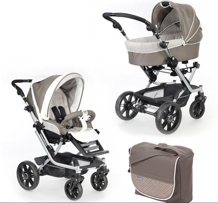 Универсальная детская коляска 2 в 1 MISTRAL S V3 (кожа) Teutonia