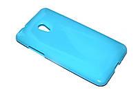 Глянцевый TPU чехол для HTC Desire 700 голубой