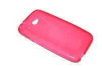 Глянцевый TPU чехол для HTC Desire 601 розовый