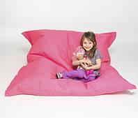 Малиновое кресло мешок подушка 120*140 см из микро-рогожки, кресло-мат