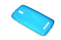 Глянцевый TPU чехол для HTC Desire 500 голубой