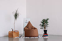 Песочное  бескаркасное кресло мешок Капелька из Мешковины Саванна