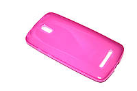 Глянцевый TPU чехол для HTC Desire 500 розовый, фото 1