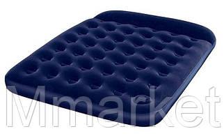 Велюровый матрац 67226 синий 203-152-22 см со встроенным ножным насосом
