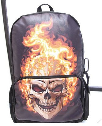 Рюкзак с огненным черепом!