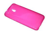Глянцевый TPU чехол для HTC One Mini M4 розовый