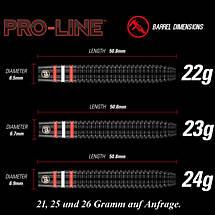 Дротики steel Winmau Pro-Line 23gr 90% tungsten PROFI, фото 3