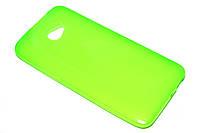 Глянцевый TPU чехол для HTC Butterfly S салатовый
