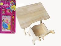 Деревянная парта со стульчиком Babybrok