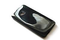 Глянцевый TPU чехол для HTC One M7 801e чёрный