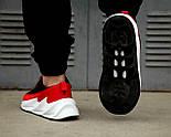 Мужские кроссовки Adidas Shark Red/Black/White. Живое фото. Реплика, фото 2