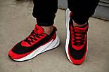 Мужские кроссовки Adidas Shark Red/Black/White. Живое фото. Реплика, фото 5