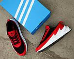 Мужские кроссовки Adidas Shark Red/Black/White. Живое фото. Реплика, фото 6