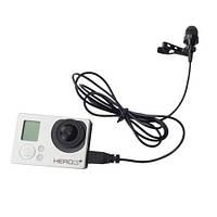 GoPro Hero 3 TELESIN внешний  USB микрофон, моно, качественный, петличка