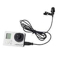 GoPro Hero 3 TELESIN внешний  USB микрофон, моно, качественный, петличка , фото 1