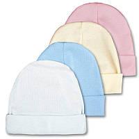 Детская шапочка, белая, голубая (арт: 18-35), фото 1