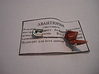 Булавка оберег с камнем Авантюрин, фото 1