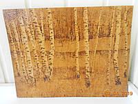 """Картина выжигание по дереву """"Березы"""", художник Степаньян Г.Л."""