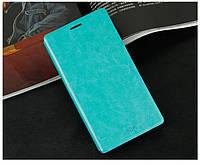 Кожаный чехол книжка MOFI для Lenovo S856 бирюзовый, фото 1