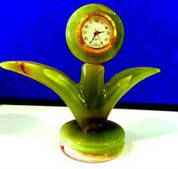 Часы Пальмочка из оникса 10см