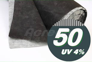 Черно-белое агроволокно «Agreen» (1.6х50 м рулон) для мульчирования, оригинал, фото 2