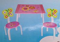 """Детский столик с 2 стульчиками """"Цветы"""""""