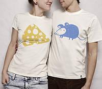 Парные футболки Мышка и сыр, фото 1