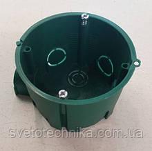 Подрозетник Schneder(зеленого цвета 60mm.)