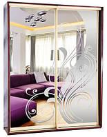 Шкаф-купе и Зеркало с пескоструйным рисунком