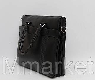 Мужской кожаный (кожа искусственная) портфель / сумка с отделом под ноутбук Gorangd