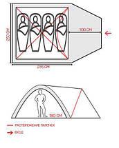 Палатка четырехместная 1004 GreenCamp, фото 3
