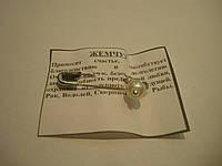 Булавка оберег с камнем Жемчуг, фото 1