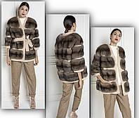 Пальто короткое с мехом соболя , фото 1