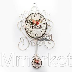 Часы настенные с маятником для интерьера Home sweet home