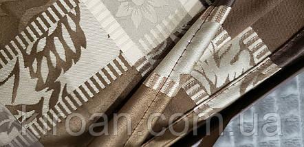 Праздничная жаккардовая скатерть в подарочной коробке Monfino 150х220см (полиэстер + хлопок), фото 3