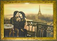 """Схема для вышивки бисером на габардине """"Романтика Парижа"""""""