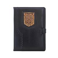 Кожаный ежедневник недатированный Герб Украины