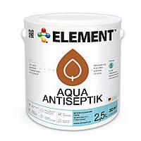 Антисептик пропитка декоративная ELEMENT Aqua Antiseptik сосна 2.5 л.