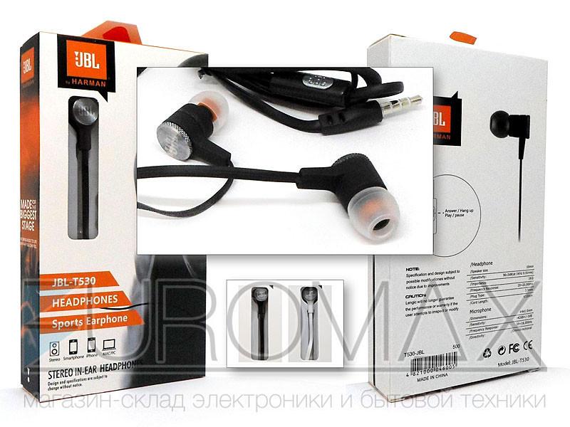 Наушники вакуумные с микрофоном JBL T530-JBL
