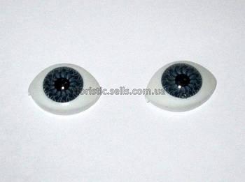 Очі для ляльок сірі 16/11 мм