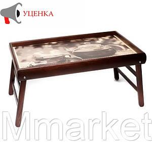 Столик на ножках 040469 венге чайник и чашка УЦ