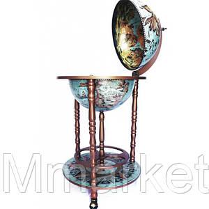 Глобус бар напольный Zoffoli 480077 53×53×90 см синий