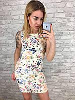 Платье женское летнее с бабочками р, 42 44 46 48