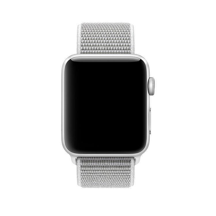 Ремешок Apple Watch 42 Текстиль Серебристый