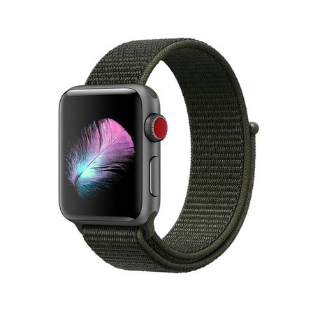 Ремешок Apple Watch 42/44mm Nylon Sport Loop olive, фото 2