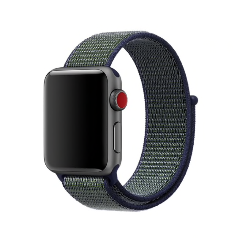 Ремешок Apple Watch 42/44mm Nylon Sport Loop blue/green